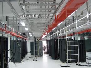 大型网络机方施工现场一角